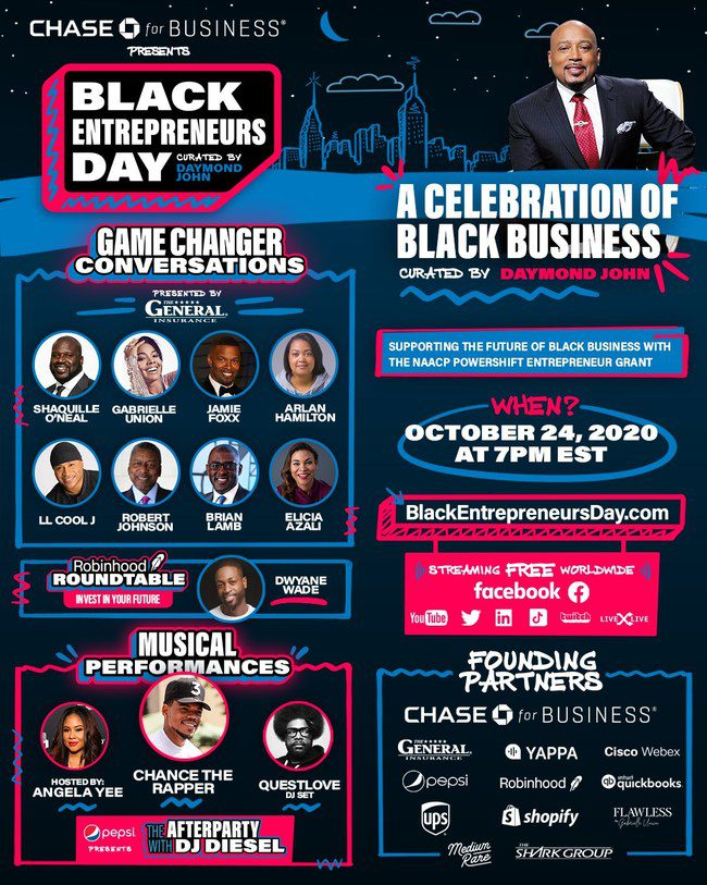 Six Million Viewers Join Inaugural Black Entrepreneurs Day Presented by Chase for Business Live-Stream, $250K in NAACP Grants Awarded Live