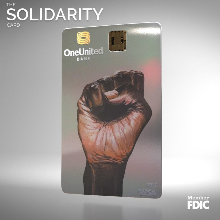 OneUnited Bank, Largest Black Owned Bank Introduces Solidarity Card For Black History Month