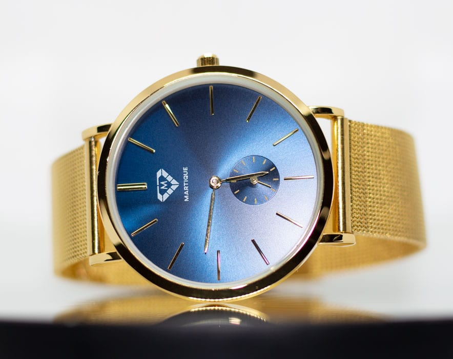 Executive Blue on Gold Mesh